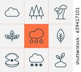 world icons set. collection of... | Shutterstock .eps vector #659417101