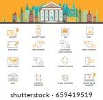 bank building exterior on... | Shutterstock .eps vector #659419519
