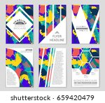 abstract vector layout... | Shutterstock .eps vector #659420479