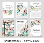 abstract vector layout... | Shutterstock .eps vector #659421529