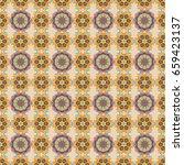 background. mandala vector... | Shutterstock .eps vector #659423137
