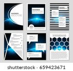abstract vector layout...   Shutterstock .eps vector #659423671