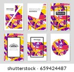 abstract vector layout... | Shutterstock .eps vector #659424487