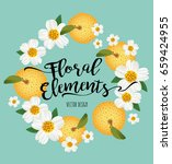 floral elements and background... | Shutterstock .eps vector #659424955