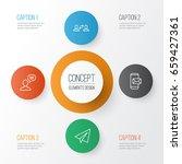 communication icons set.... | Shutterstock .eps vector #659427361