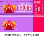 ticket for the performance and... | Shutterstock .eps vector #659431105
