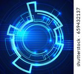 futuristic blue background... | Shutterstock .eps vector #659432137