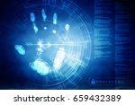 fingerprint scanning technology ... | Shutterstock . vector #659432389