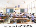 a classroom  blur | Shutterstock . vector #659432734