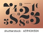 font of numbers in classical... | Shutterstock . vector #659434504
