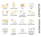 business finance icons set ... | Shutterstock .eps vector #659440759