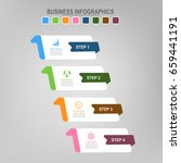 four banners for infographics ... | Shutterstock .eps vector #659441191