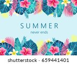 summer exotic and tropic... | Shutterstock .eps vector #659441401