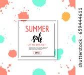 sale banner. seamless splatter... | Shutterstock .eps vector #659444611