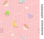 cute seamless pattern design... | Shutterstock .eps vector #659445691