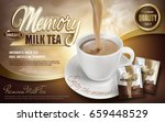 milk tea pouring down in cup... | Shutterstock .eps vector #659448529