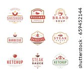set of barbecue labels and... | Shutterstock .eps vector #659452144