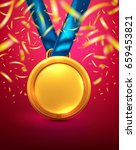 vector of gold medal.winner or... | Shutterstock .eps vector #659453821