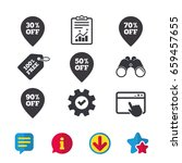 sale pointer tag icons....