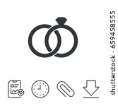 wedding rings sign icon.... | Shutterstock .eps vector #659458555