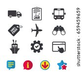 transport icons. truck ...