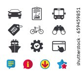 transport icons. car  bicycle ...