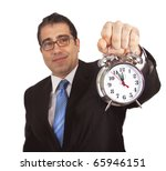 businessman with clock | Shutterstock . vector #65946151