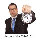 businessman with clock | Shutterstock . vector #65946151