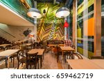 urban restaurant interior with... | Shutterstock . vector #659462719