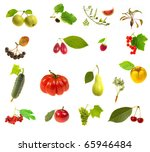 foodstuff on a white background | Shutterstock . vector #65946484