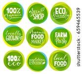 big vector of vegetarian... | Shutterstock .eps vector #659465539