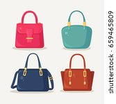 woman bag. ladies handbags... | Shutterstock .eps vector #659465809