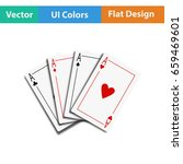 set of four card icons. flat...
