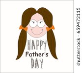 happy fathers day greeting... | Shutterstock .eps vector #659472115