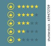 rating stars like   Shutterstock .eps vector #659472709