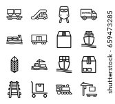 freight icons set. set of 16... | Shutterstock .eps vector #659473285