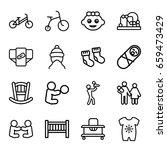 newborn icons set. set of 16... | Shutterstock .eps vector #659473429