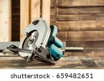 a modern green circular saw...   Shutterstock . vector #659482651