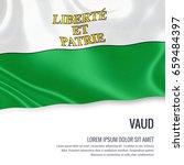 switzerland state vaud flag... | Shutterstock . vector #659484397