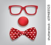 clown accessories isolated on... | Shutterstock .eps vector #659485525