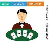casino dealer icon. flat color... | Shutterstock .eps vector #659486011