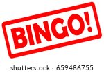 bingo stamp isolated on white...   Shutterstock . vector #659486755