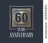 60 years anniversary vector... | Shutterstock .eps vector #659491891
