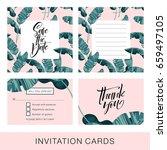 wedding invitation card....   Shutterstock .eps vector #659497105