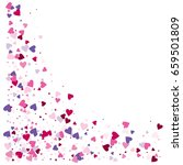 vector hearts confetti. pink... | Shutterstock .eps vector #659501809
