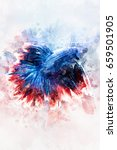 fighting fish  better fish...   Shutterstock . vector #659501905