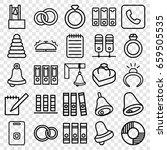 ring icons set. set of 25 ring... | Shutterstock .eps vector #659505535
