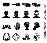virtual reality and headset... | Shutterstock .eps vector #659507059