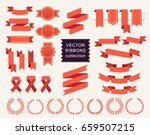 vector collection of decorative ... | Shutterstock .eps vector #659507215