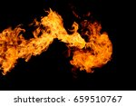 fire flame isolated on black... | Shutterstock . vector #659510767
